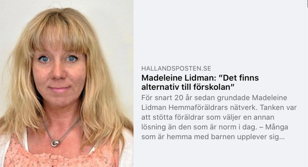 Skärmdump Hallansposten